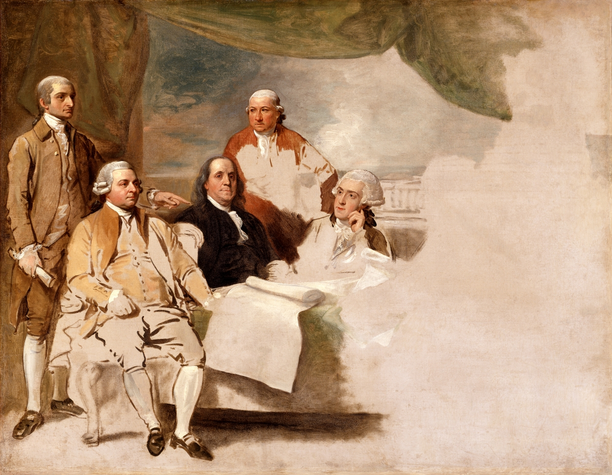 Treaty of Paris | Benjamin West | 1783 | Museum, Winterthur, Delaware, gift of Henry Francis du Pont. | Public Domain
