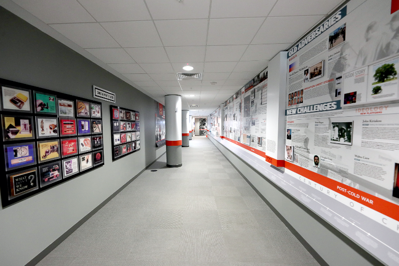 A long look through The Wall of Spies Experience hall